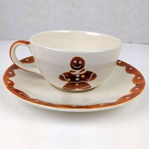 Le Gourmet Chef Gingerbread Man Tea Cup Set